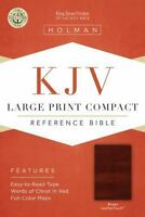 Large Print Compact Reference Bible-KJV (Leather / Fine Binding)