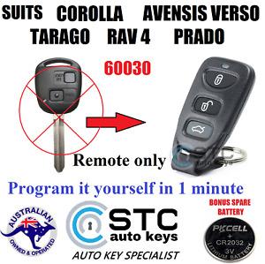 SUITS TOYOTA RAV4 COROLLA TARAGO PRADO AVENSIS 2000 2001 2002 2003 REMOTE NO KEY