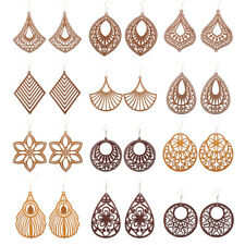 12 pairs Woman Good Quality Geometry Wood Earrings Hundreds Different Style Pick
