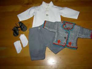 Alte Puppenkleidung * Schönes Konvolut für den kleinen Krusejungen 5 Teile*