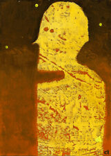 in his painted-on body looking upon the painted-on sky e9Art ACEO Outsider Art