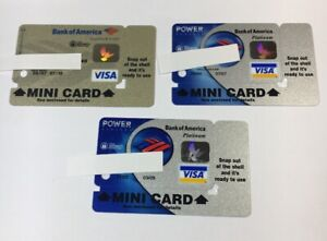 3 Expired Credit Cards For Collectors - Mini Keychain Cards Visa Rare (7032)