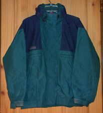 "Columbia Vintage Dark Teal & Navy ""Vamoose"" Shell w/ Attached Hood, Womens M-L"