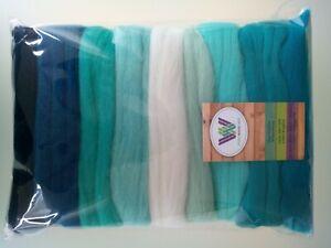 Turquoise set* Pure Merino Wool Needle and Wet Felting packs of 30, 60 or 90 g