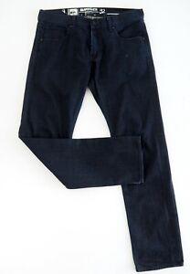 QUIKSILVER Mens Dark Blue Jeans Label Size 32 Straight Fit Mid Rise 100% Cotton