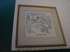 "vintage Original Framed Art: signed TED KEY---- ""HANDY MAN"" ---hazel cartoon"