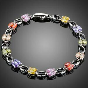 Valentines Gift For Her Love Wife ARTISTIC TOGGLE CLASP CUBIC ZIRCONIA BRACELET