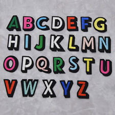 Letter A-z Embroidered Colorful Alphabet English Patches DIY Hat Coat Iron on