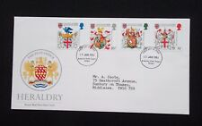 STAMPS.1984. FIRST DAY COVERS .ANNIVERSARY OF COLLEGE OF ARMS.   (TYPED ADDRESS)