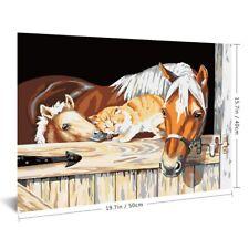 DIY Oil Acrylic Painting Kit Paint By Numbers Children Beginner Frameless Animal