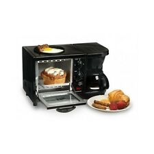 Deluxe Toaster Oven Griddle Coffee Maker Breakfast Kitchen Counter Station Black