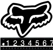 FOX RACING DECAL Fox Racing 7.5 in. x 5 in. Fox Head Black/White BMX Moto Decal