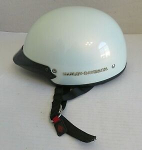 Harley Davidson Motorcycle Half Helmet DOT Pearl White Womens Small