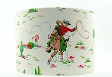 NEW Lampshade Handmade with Cath Kidston Cowboys Cream Wallpaper 30cm