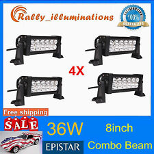 4PCS 36W 8'' LED WORK LIGHT BAR OFFROAD FOG SPOT LIGHT FLOOD CAR LAMP 4X4WD SALE
