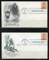 UNITED STATES 1979 $5.00  LAMP 2  DIFFERENT  FIRST DAY COVERS