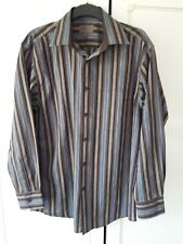 Shirts & Tops Clothes, Shoes & Accessories Bnwt New Remus Uomo Jeans Shirt Long Sleeve Mens Cotton M Black