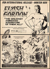 FLASH GORDON__Orig. 1977 Trade print AD promo / poster__FILMATION__ALEX RAYMOND