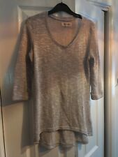 Femmes New Look Léger Tricot Pull Homme, gris, taille UK 10
