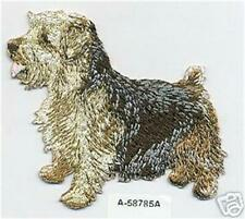 """3"""" x 3 1/4"""" inches Norfolk Terrier Dog Breed Embroidery Patch"""