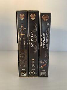 Batman VHS Set Batman, Batman Returns, Batman Forever Michael Keaton Val Kilmer