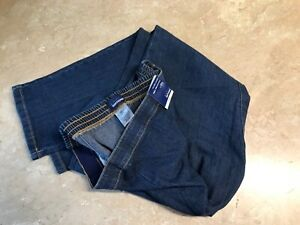 Basic Editions cotton blend stretch dark wash straight leg classic fit jeans