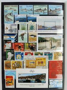 Island ** Lot Einzelmarken, Sätze u. Blöcke ** alles gültige Frankaturware **