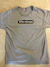 GRAY DOUBLE SIDED DUNLOP ACCESSORIES T-SHIRT, w/COLLAR CUT OFF WITH SEAM INTACT