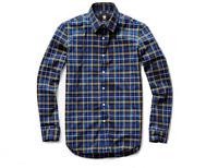 G-STAR RAW Men's Slim Fit Pacific Blue Calypso Stretch Check Shirt BNWT Size S