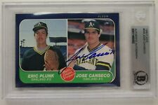 Jose Canseco Autographed A's 1986 Fleer #649 Signed ROOKIE Card BAS