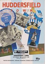 Shrewsbury Town Huddersfield Town V 90-91 partido de Liga