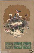 Fantaisie - cpa - Oiseaux en hiver ( i 4308)