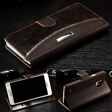 Luxury PU Leather Case Magnetic Flip Stand Wallet Cover For iPhone Samsung