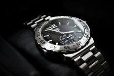 Tag Heuer WAU1112.BA0858 Mens Black Dial Analog Quartz Watch