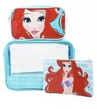 Disney The Little Mermaid Ariel cosmetic makeup bag case 3-pack set Nwt