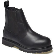 DICKIES STEEL TOE CAP SAFETY DEALER BOOTS BLACK UK 6 EU 40 FD22200 LEATHER