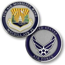 MacDill Air Force Base Challenge Coin 6th Air Mobility Wing USAF AFB FL KC-135R