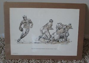 VINTAGE 1960 PRINT OF BOB WATERFIELD FROM ROBERT RIGER COLLECTION SHRINK WRAPPED