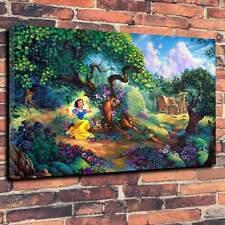 "Snow White Disney Kids Printed Canvas A1.30""x20""~Deep 30mm Frame Fantasy Cartoon"