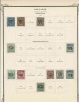 Salvador 1896 Official Stamps Ref 15538