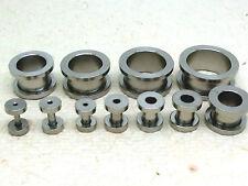 16 mm Ø Plug oreja piercing 4 mm Double flared-Ancla-acrílico blanco y negro