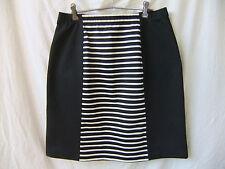 UCW Aust NEW Sz 16-18 Skirt Mini Stretch Black & White Stripe Work Office Casual