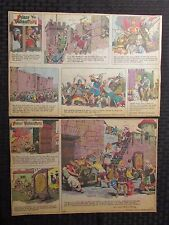 1977 PRINCE VALIANT Sunday Newspaper Strips LOT of 52 FN-/FN+ Hal Foster