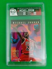 1995-96 Hoops Basketball, Michael Jordan, Number Crunchers #1, HGA 9.0 Mint