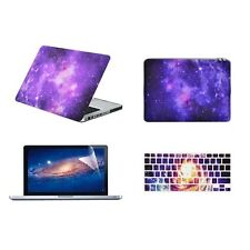 "PURPLE Galaxy Graphic Case for Macbook Pro 13"" A1278 + Keyboard Cover +LCD +Bag"