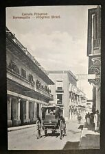 Mint Vintage Progreso Street Barranquilla Columbia Real Picture Postcard