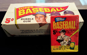 Rare 1965 TOPPS Mint Baseball Cards Original Pack of 5 W/Bonus Gold Embossed  2B