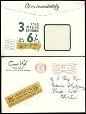 GB 1962 PHONOGRAPHIC ADVERTISING ENVELOPE RECORD CLUB METER FRANKING