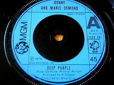 "DONNY & MARIE OSMOND - DEEP PURPLE   7"" VINYL"
