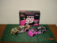 "2-CAR BOXED SET-1998 JEFF BURTON ""#99 EXIDE 1:24 SCALE CAR/50TH ANNIV/FREE SHIP!"
